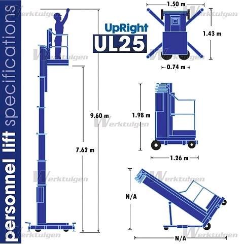 25 Foot Upright Personnel Lift Rentals St Louis Mo Where